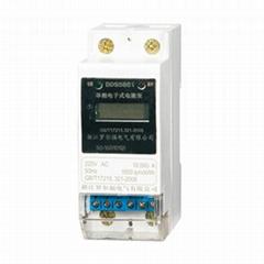 羅爾福單相導軌式電能表RS-485通訊2P