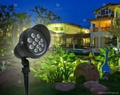 LED戶外防水斜帽插地投光燈