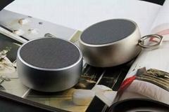 升唱BS02迷你戶外防水藍牙音箱無線便攜音響 金屬重低音小鋼炮