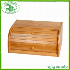 Bamboo bread box wooden box