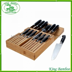 Universal Bamboo knife holder knife block