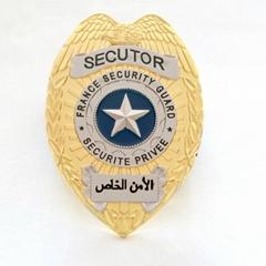 Antique Custom made gold logo military metal badge