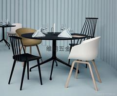 咖啡廳復古簡約時尚靠背椅