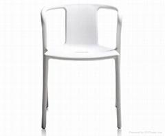 鏤空設計優質定製鋁合金靠背餐廳辦公椅