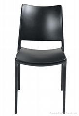 簡約休閑個性復古鋁合金洽談椅餐椅