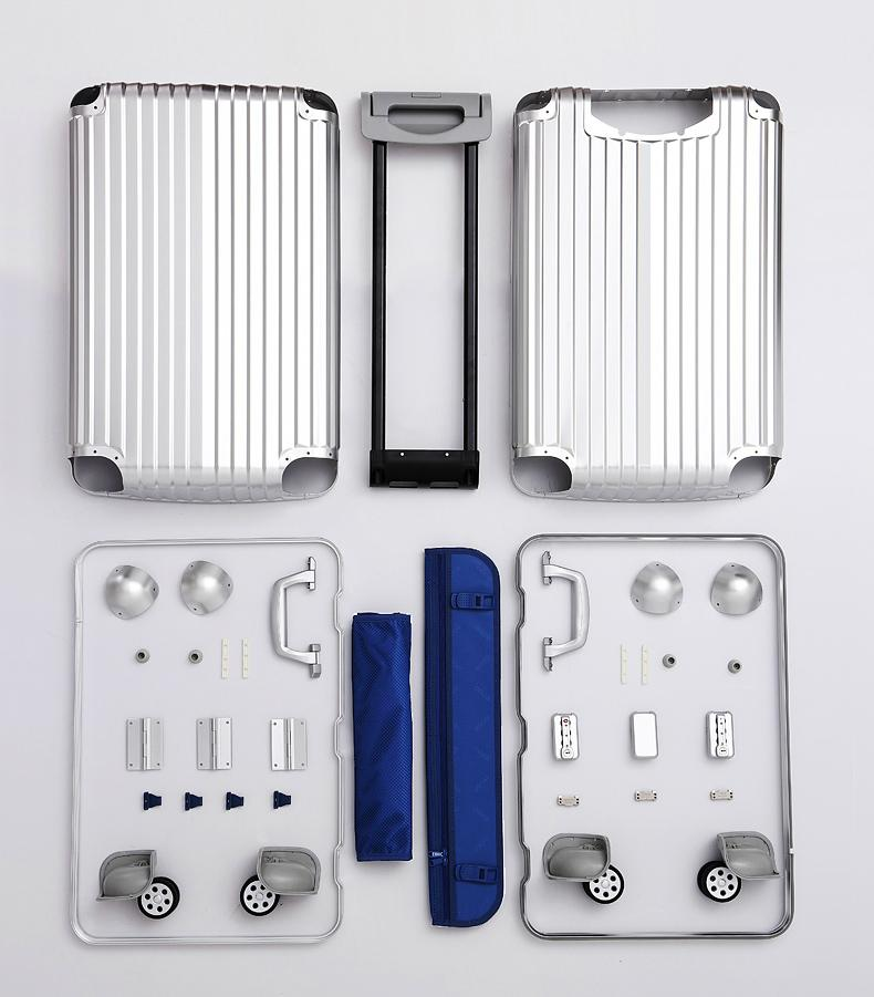 business aluminum luggage metal case with TSA Customs Lock 1