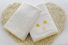 Square towel of bamboo fiber