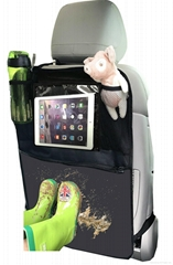 Baby kick Mat with Backseat Organizer,Car Seat Back Protector with iPad and Tabl