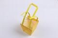 Hexagonal pattern waterproof  flower carry bag gift bag pp bag with flat handle 2