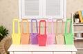 Hexagonal pattern waterproof  flower carry bag gift bag pp bag with flat handle 3