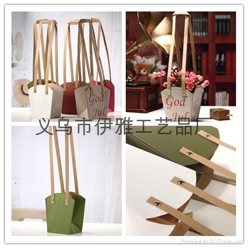 150g Kraft Paper Waterproof Bag for Flower Packaging Carrier Shopping Gift Bag 1
