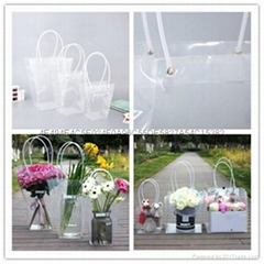 Clear Transprent PP Plastic PVC Flower Packaging Wrapping Gift Bag for Florist S