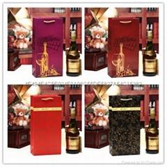 Wine Bottle Paper Gift Promotion Bags- Wine Alcohol Liquor Liquor Spirits Bag