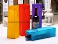 Fancy Waterproof Hexagonal Pattern Wine Gift Promotion Bag PP Plastic Jute Bag  2