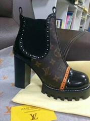 Louis Vuitton BOYISH ANKLE BOOT Women Monogram tone ankle boot Free Shipping