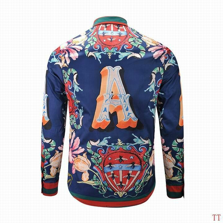 Wholesale Gucci Tiger Print Men's Dress Slim Shirt Men casual shirts 1:1 qualit  2