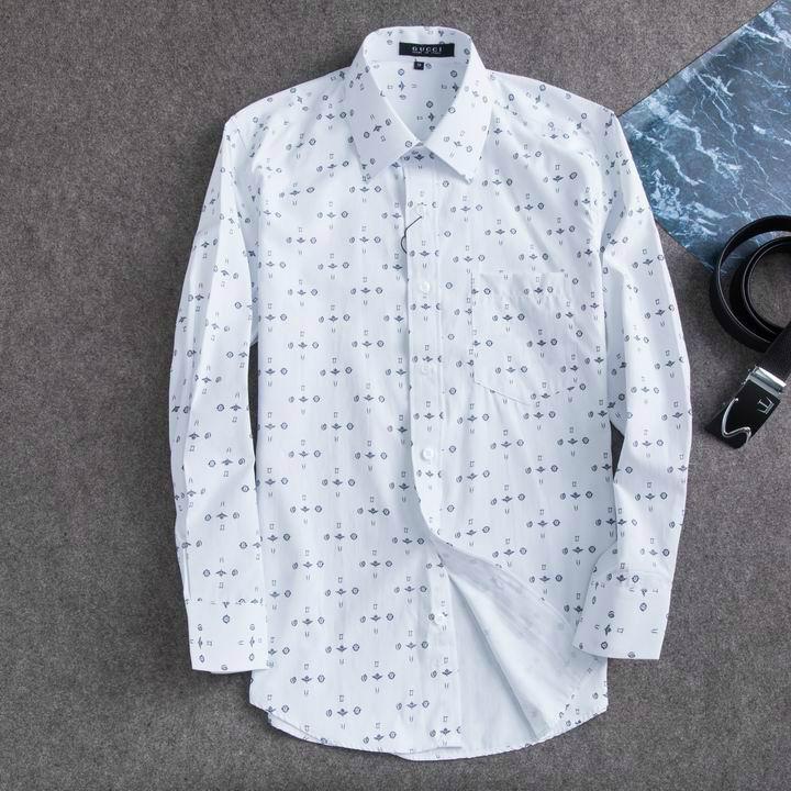 Wholesale Gucci Tiger Print Men's Dress Slim Shirt Men casual shirts 1:1 qualit  3