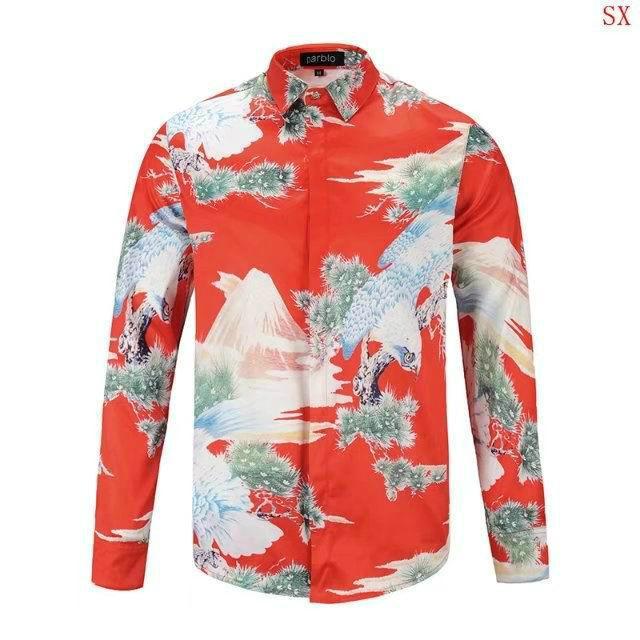 Wholesale Gucci Tiger Print Men's Dress Slim Shirt Men casual shirts 1:1 qualit  5