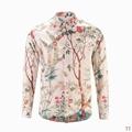Wholesale Gucci Tiger Print Men's Dress Slim Shirt Men casual shirts 1:1 qualit  6