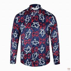 Wholesale Gucci Tiger Print Men's Dress Slim Shirt Men casual shirts 1:1 qualit