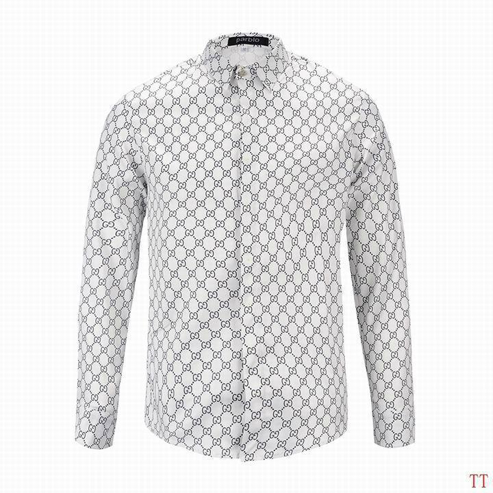 Wholesale Gucci Tiger Print Men's Dress Slim Shirt Men casual shirts 1:1 qualit  14