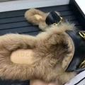Gucci Slides Gucci Men women Leather Slipper FUR SLIPPER MULE LOAFER SHOES 3