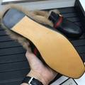 Gucci Slides Gucci Men women Leather Slipper FUR SLIPPER MULE LOAFER SHOES 8