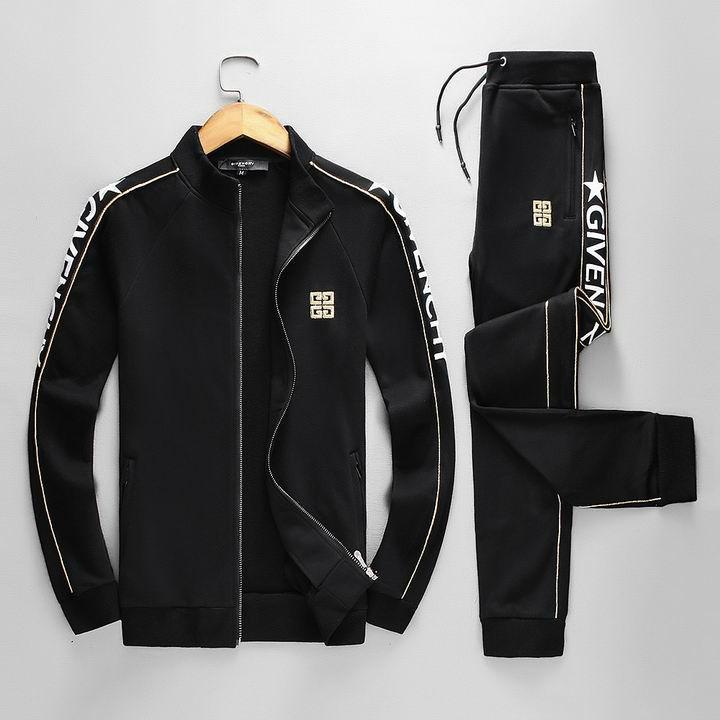 Givenchy Satin Logo Jackets and Givenchy Pants Women Men logo Jogging tracksuits 9