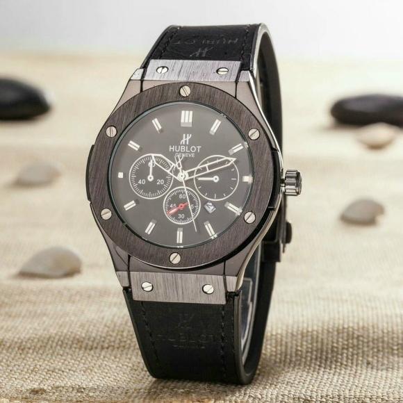 Hublot Watches Big Bang Steel Black 1:1 Hublot Men's Watches Wall Clock Quartz 12