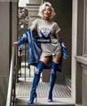 Balmin denim toe over knee heel boots women Fashion jeans boots
