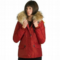 Hot Sale Parajumpers New Denali Short Down Coat Women Red fur Parka jackets