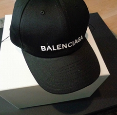 Balenciaga Black Baseball Logo Embroidered Cap One Size Baseball Cap Adjustable (Hot Product - 1*)