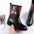 LV Boots Louis Vuitton WORLD TOUR flat boots Women LV strap slip on Mid boots