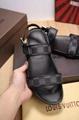 LV slipper Louis Vuitton Mens Sandals Damier Graphite LV buckle sandals