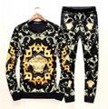 New! Versace tracksuit Hoodie Black Gold Baroque Print pant Zip Hoody multicolor 3