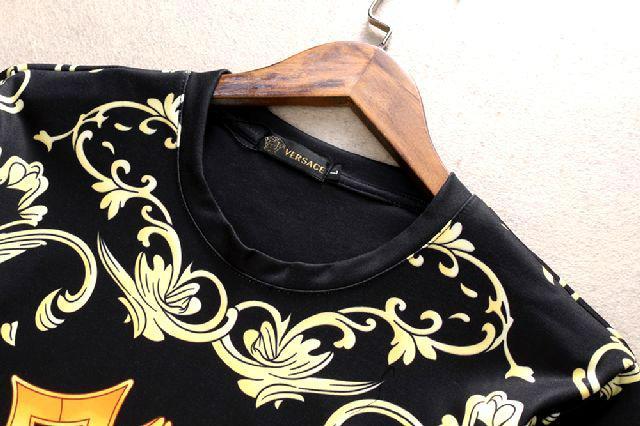 New! Versace tracksuit Hoodie Black Gold Baroque Print pant Zip Hoody multicolor 4