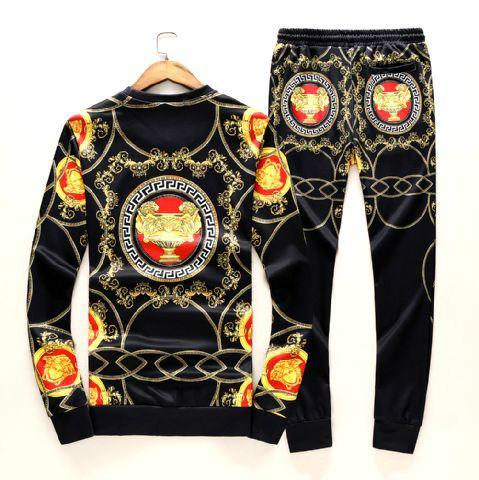 New! Versace tracksuit Hoodie Black Gold Baroque Print pant Zip Hoody multicolor 5