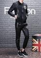 New! Versace tracksuit Hoodie Black Gold Baroque Print pant Zip Hoody multicolor 6