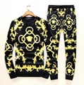 New! Versace tracksuit Hoodie Black Gold Baroque Print pant Zip Hoody multicolor 7