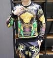 New! Versace tracksuit Hoodie Black Gold Baroque Print pant Zip Hoody multicolor
