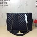 YSL Handbags NEW LEATHER CHAIN LARGE HANDBAG TOTE PURSE BAGS Original Quality
