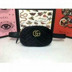 Gucci BAG VELVET MESSENGER BAG WAIST BELT BAG PURSE SHOULDER BAGS