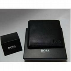 Boss Men's Leather Wallet Short Wallets Purse Bags Real leather wallet