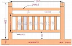 中原大成      1.8米仿木护栏模具
