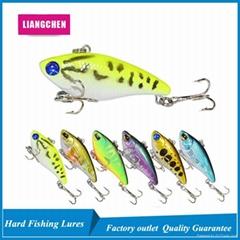 6 Colors 3D Eyes 3.3g 3.9cm Fishing Hard Bait VIB Fishing Bait