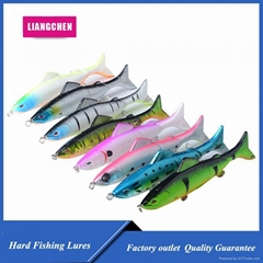 Free Shipping 3 Sections Fishing Lures Wobblers Minnow Swimbaits