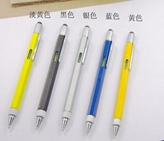 6合1多功能刻度尺螺絲刀水平儀手機觸控圓珠筆