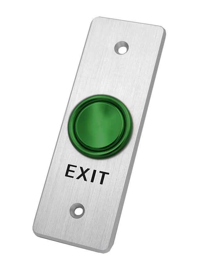 Unique Concave Type Door Exit Push Button ANSI Aluminum Alloy Faceplate 1
