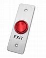 Unique Concave Type Door Exit Push Button ANSI Aluminum Alloy Faceplate 2