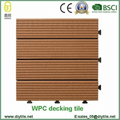 wholesale swimming pool WPC flooring tile composite decking tile